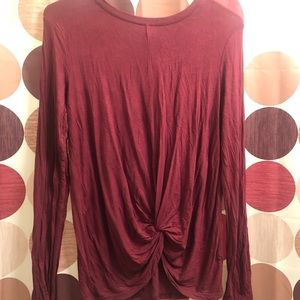 Tops - XL LONG SLEVE KNOT TOP